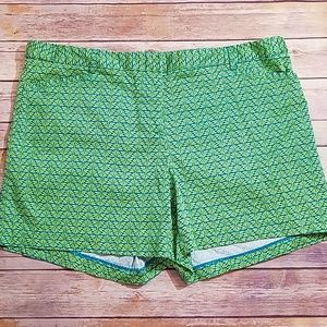 Laundry By Shelli Segal Shorts - Laundry by Shelli Segal lime blue shorts